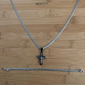 Other - Set of Necklace and Bracelet Stainless Steel